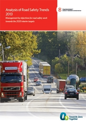 Bild på Analysis of road safety trends 2013 - management by objectives for road safety work towards the 2020 interim targets