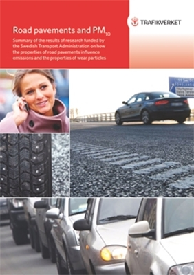 Bild på Road pavements and PM10 - summary of the results of research funded by the Swedish Transport Administration on how the properties of road pavements influence emissions and the properties of wear particles