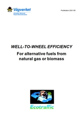 Bild på Well-to-wheel efficiency for alternative fuels from natural gas or biomass