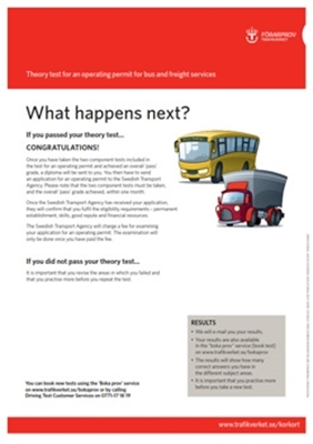Bild på What happens next? – Theory test for an operating permit for bus and freight services