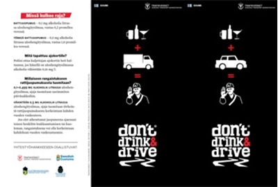 Bild på Don't drink and drive - Folder
