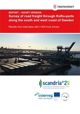 Bild på  Survey of road freight through RoRo-ports along the south and west coast of Sweden – short version