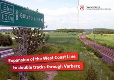 Bild på Expansion of the West Coast Line to double tracks through Varberg